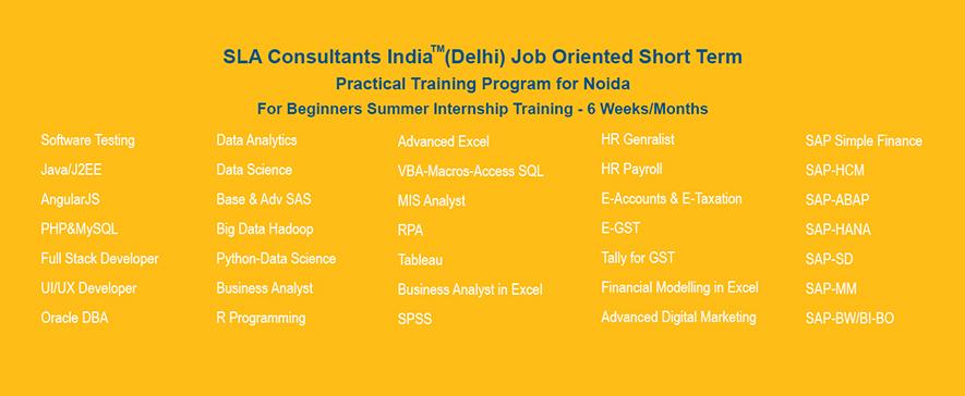SLA consultants India - HR, MIS & Excel Training Institute