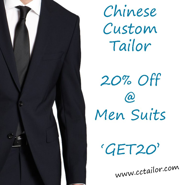 Chinese Custom Tailor Made Suits Discount Offer